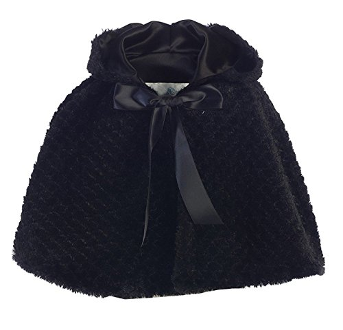 iGirlDress Little Girls Ribbon Accent Hooded Swirl Texture