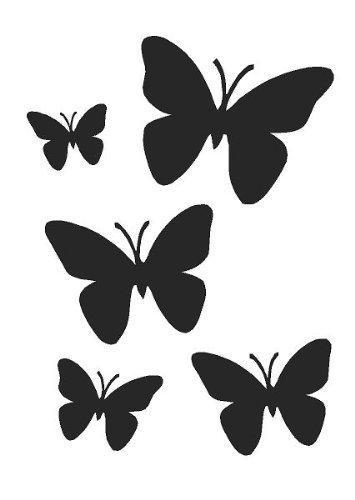a4 butterflies airbrush wall art paint stencil genuine mylar re