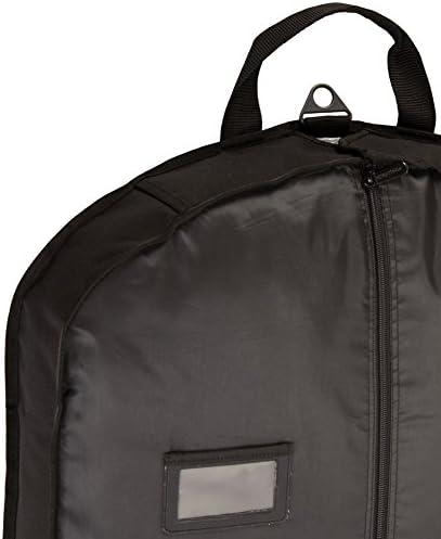 AmazonBasics Travel Hanging Luggage Suit Garment Bag - 22 Inch, Black