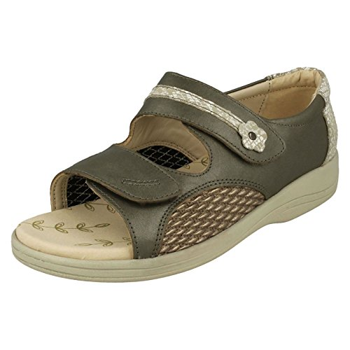 3E Combi Padders Toe Size Ladies Metallic 41 Leather Graceful Size Open EU US Sandals 9 Size UK 7 4E EPPYw