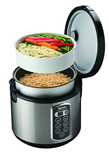 Aroma Professional Rice Cooker / Multicooker, Silver (ARC-2010ASB) by Aroma Housewares (Image #3)