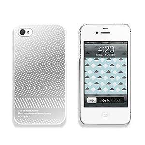 pc estuche rígido, con efecto de espejo para el iphone 4 / 4s