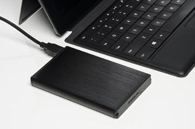 Sabrent Ultra Slim USB 2.0 to 2.5-Inch SATA External Aluminum Hard Drive Enclosure [Black] (EC-UK25) from Sabrent