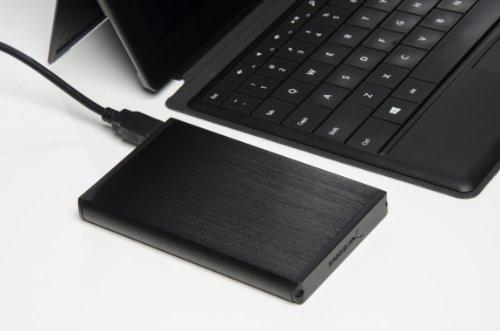 Sabrent Ultra Slim USB 2.0 to 2.5-Inch SATA External Aluminum Hard Drive Enclosure [Black] (EC-UK25)