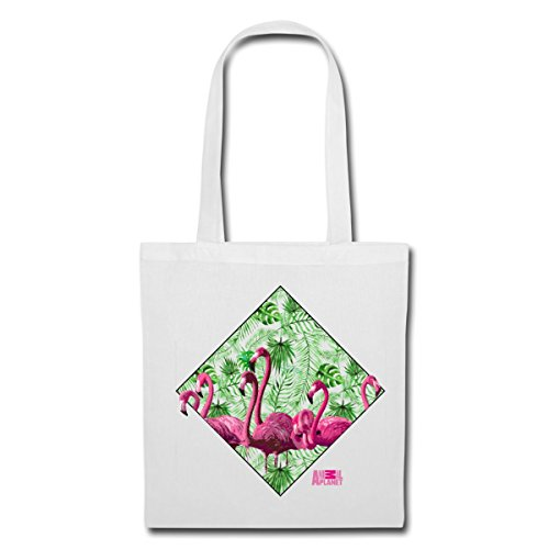 Plants Spreadshirt Planet And Tote Animal Of Bag White Flamingos Flock RRvYq