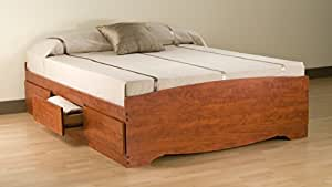 Cherry Full Mate's Platform Storage Bed with 6 Drawers