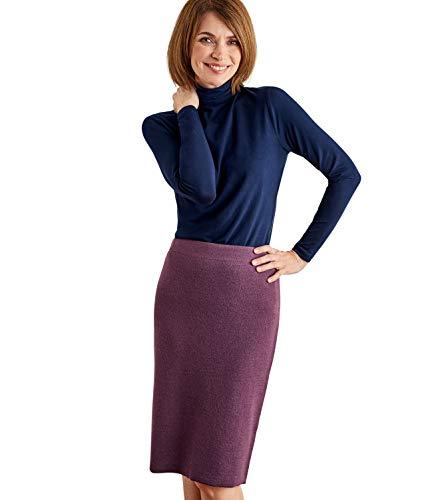 - Wool Overs Womens Milano Skirt Aubergine XS