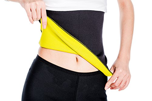 ValentinA Hot Thermo Sweat Neoprene Shapers Slimming Belt Waist Cincher Girdle For Weight Loss Women & Men (Plus Size Teen)