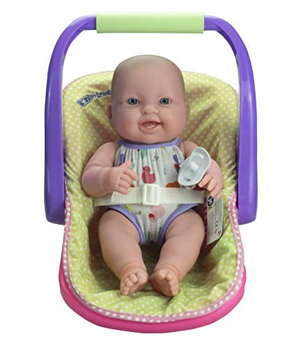 "JC TOYS LOTS TO LOVE BABY DOLL IN ADJUSTABLE CARRIER - Featuring 14"" all Vinyl doll - Perfect for Children 2+"
