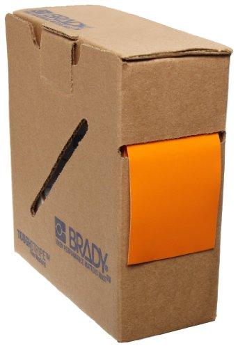 Brady ToughStripe Nonabrasive Floor Marking Tape, 100 Length, 2 Width, Orange (Pack of 1 Roll)