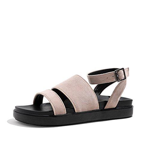 B piatti aperta antiscivolo sandali semplici nuovi YMFIE Estate sandali punta qw6tFz1U