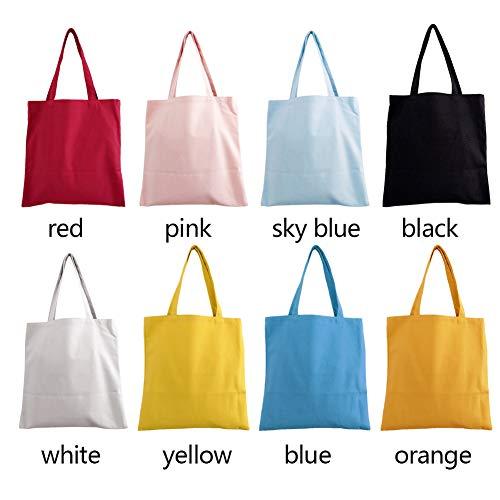 Azul Respetuoso de Reutilizable Libre Lavable para Bolso HOMYY la Color Mujer al con Celeste Hombro Medio el Tamaño Ambiente Compra Lona Rosa de sólido wBCqSxP