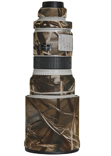 (LensCoat Lens Cover for Canon 300IS f/2.8 camouflage neoprene camera lens protection sleeve (Realtree Max4 HD) )