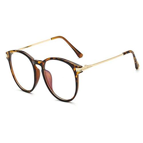 Deylaying Lumière bleue Filtre Ordinateur Des lunettes Anti-rayonnement UV Lentille claire Vintage Rond Goggle Hommes/Femmes