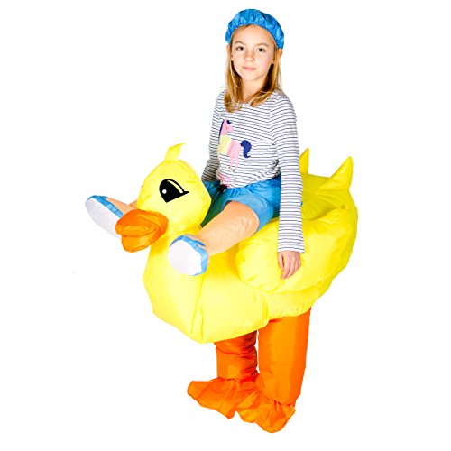 Bodysocks Kids Inflatable Duck Fancy Dress (Daffy Duck Girl Costume)