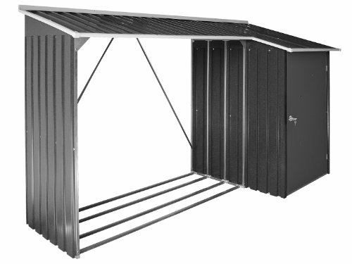 Duramax WoodStore Combo Storage Shed, Anthracite/Off White Trim