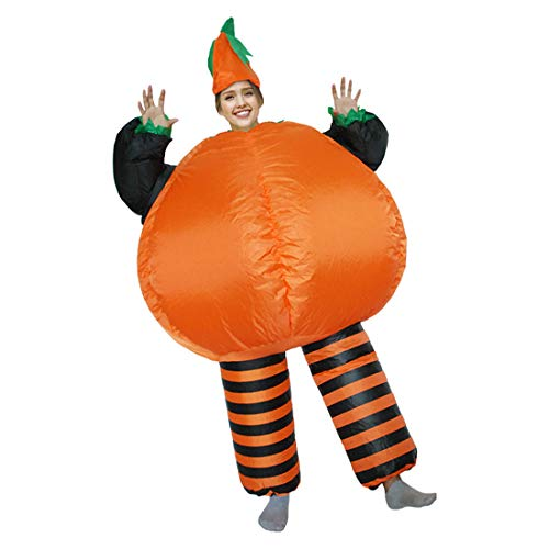 Inflatable Mascot Costume Blow up Festival Dress Outfit Party (Pumpkin)]()