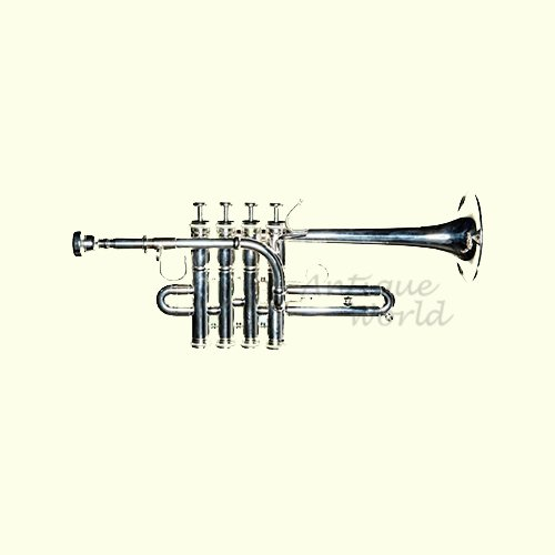 Antiques World Piccolo Trumpet Beautifully Crafted Stylish Open Box AWUSAMI 032 by Antiques World