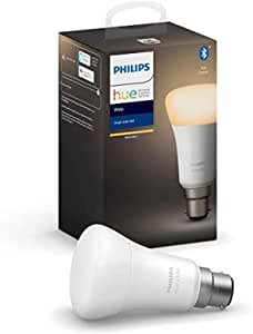 Philips Hue White Ambiance Bayonet Cap (B22) Dimmable LED Smart Bulb (Latest Model, Compatible with Bluetooth, Amazon Alexa, Apple HomeKit, and Google Assistant)