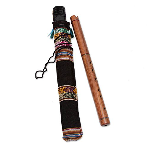 NOVICA Decorative Wood Traditional Peruvian Quena Flute, Brown, 'Jacaranda'