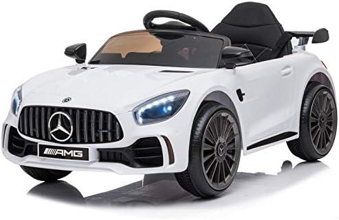 ATAA Mercedes GTR Mini 12v - Blanco - Coche eléctrico para niños con batería 12v