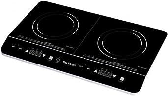 Mx Onda MX-PIP2199 Placa de inducción portátil doble, 2000 W