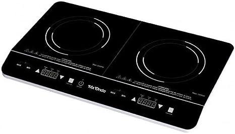 Mx Onda MX-PIP2199 Placa de inducción portátil doble, 2000 W, 0 Decibelios, Negro: Amazon.es: Grandes electrodomésticos
