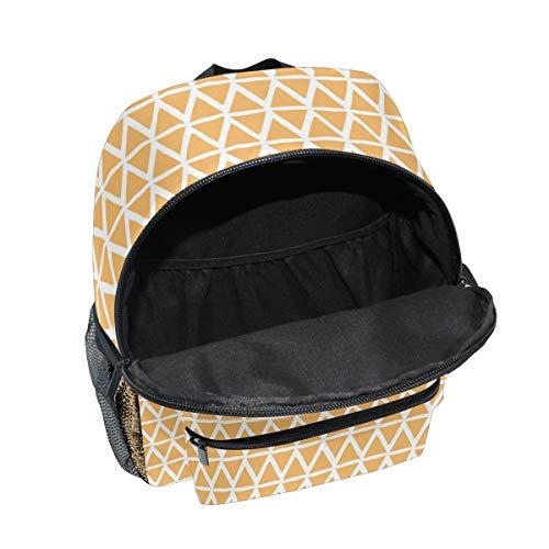with 4 primary for FANTAZIO kidsBackpacks Daypack Bookbag kindergarten Triangles bag weaving School zipper 70Rq6U