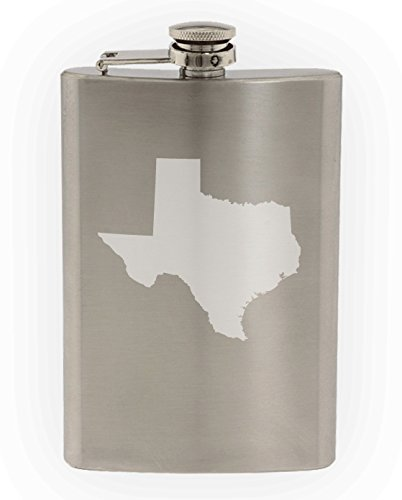 State of Texas Etched 8oz Stainless Steel - Worth Store University Fort