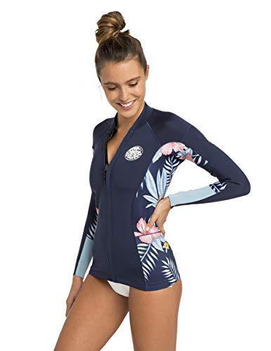 Rip Curl Dawn Patrol Long Sleeve Wetsuit Jacket, Navy, - Wetsuit Long Sleeve Jacket