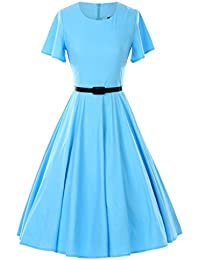 1950s Vintage Dresses Butterfly Sleeve Swing Stretchy Dresses
