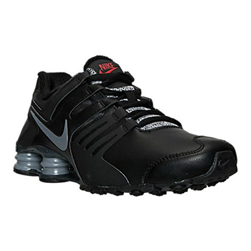41dc1a9eb452 Nike Shox Current Running Shoes Athletic Sneakers Black Cool Grey Red Anthracite  (8.5)
