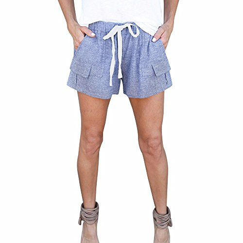 FarJing Clearance sale Women Pants Fashion Women Shorts Mid Waist Sexy Pocket Shorts Causal Hot (Faded Glory Pull On Shorts)