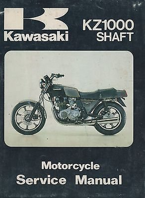 1979-1980 KAWASAKI MOTORCYCLE KZ1000 SHAFT SERVICE MANUAL 99924-1016-02 (Kawasaki Kz1000 Shaft)