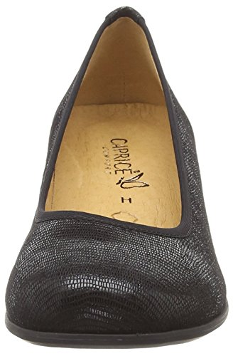 Con black Nero Scarpe Donna Reptile 22300 10 Tacco Caprice YxqgwPEFq