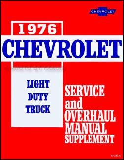 1976 Chevy 10-30 Truck Repair Shop Manual Supplement Pickup, Blazer, Suburban, Van, Step Van, P-Chassis (Chassis Suburban)