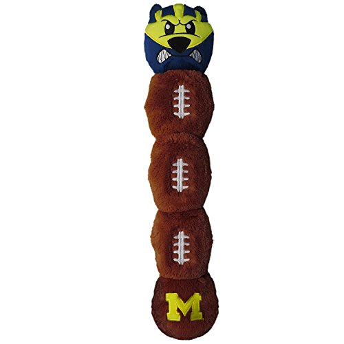 [해외]Michigan Wolverines Pet`s First Plush 5 Squakers Mascot Caterpillar Long Toy / Michigan Wolverines Pet`s First Plush 5 Squakers Mascot Caterpillar Long Toy