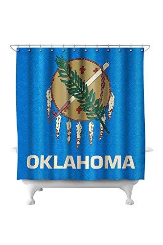 Oklahoma State Flag - Letterpress 51127 (74x74 Polyester Shower Curtain) - Oklahoma State Printed Curtain