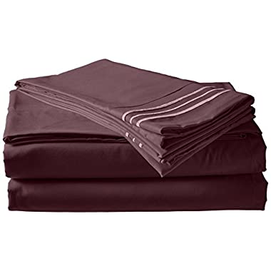 Elegant Comfort 4-Piece 1500 Thread Count Egyptian Quality Bed Sheet Sets with Deep Pockets, King, Purple