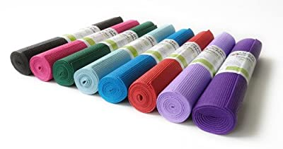 "Yoga Mat 3/16"" Thick x 68"" Long High Density 10 Colors Non-Toxic Phthalate Free Clean PVC (TM) by Bean Products"