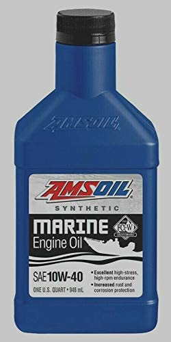 Amazon Com Amsoil Synthetic 10w 40 Marine Engine Oil 1 Quart