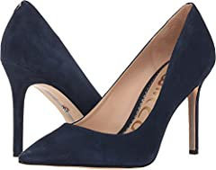 Embrace a new essential! Reinvent your signature look with the simply classic Sam Edelman® Hazel pump.  Available in variety of leather, man-made, and textile uppers.  Slip-on design. Point-toe silhouette.  Leather lining and insole.  Double...