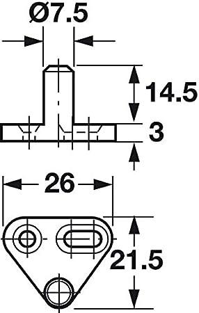 Stange f/ür Kleiderschrank M/öbelschl/össer 1 St/ück Stahl vernickelt Gedotec Drehstange Metall Profilstange f/ür Drehstangen-Schloss f/ür Schrank-T/üren /& M/öbel L/änge: 1165 mm Stangen-/Ø 6 mm