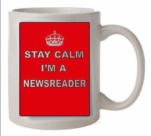 Keep Calm lector taza de cerámica - carrera taza apta para ...
