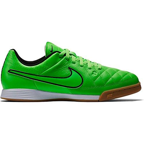 Nike Jr. Tiempo Genio Leather IN Indoor Soccer Shoes (Green Strike) Sz. (Nike Jr Tiempo Genio Leather)
