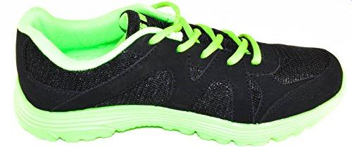 BTS - Zapatillas de running de malla para mujer Varios Colores - Schwarz/ Neon Grün