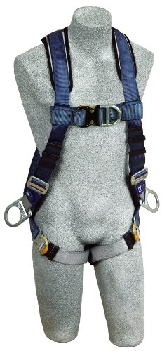 3M DBI-SALA ExoFit 1108601 Vest Style Harness, Front, Back and Side D-Rings, Loops For Belt, Quick-Connect Buckles, Medium, Blue/Gray by 3M Fall Protection Business (Image #4)
