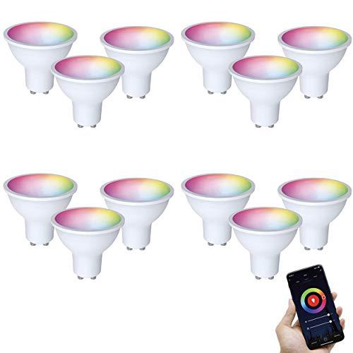 FlinQ GU10 Smart Lamp 12 stuks Smart Lamp   Smart Led Lamp   WIFI Smart Bulb Compatibel met Alexa en Google Assistant…