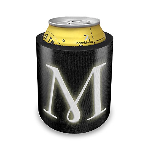Slap Can Koozie M blank characters, letter Insulator Cooler - Neonblond