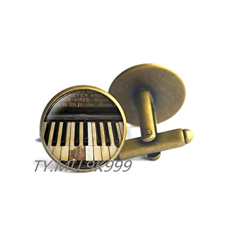 Piano CuffLinks, Music Jewelry,Classical music gift,Charming Piano,Pianist Musician.Y209 (Good Classical Music For Halloween)